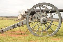南北战争大炮,马纳萨斯全国战场公园弗吉尼亚, 2016年3月15日 免版税图库摄影