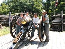 南北战争大炮 免版税图库摄影