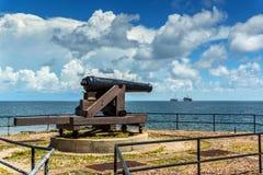 南北战争大炮 库存照片