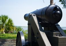 南北战争大炮 免版税库存图片