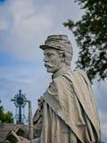 南北战争将军的纪念碑 免版税库存照片