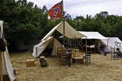 南北战争帐篷 库存照片