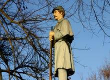 南北战争战士的雕象 库存照片