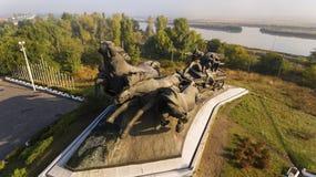 南北战争纪念碑,建立在顿河畔罗斯托夫 图库摄影