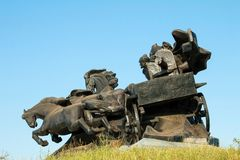 南北战争纪念碑 库存图片