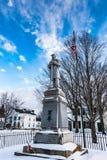 南北战争纪念碑- Peterboro,纽约 免版税库存照片