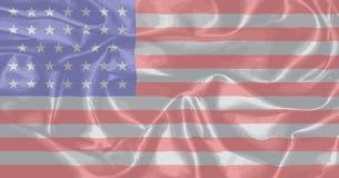 南北战争联合丝绸旗子 免版税库存图片