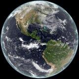 南北美国中心的地球 免版税库存照片