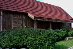 南卡希亚斯古城的复制品房子 免版税库存照片