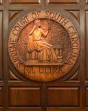 南卡罗来纳最高法院封印  免版税库存照片
