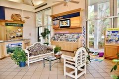 南卡罗来纳状态美国访客中心室内设计 免版税库存图片