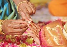 南印地安婚姻仪式 库存图片