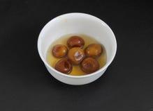 南印地安甜gulab jamun 免版税库存图片