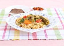 南印地安素食微型午餐 免版税库存照片