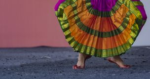 南印度古典舞蹈Bharatanatyam 库存图片