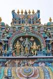 南印度马杜赖蒂鲁帕兰昆德拉姆Murugan寺庙 免版税图库摄影