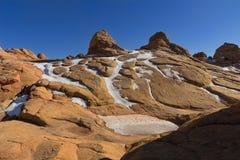 南土狼小山,银朱的峭壁国家历史文物 免版税图库摄影