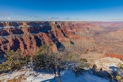 南外缘大峡谷在冬天 图库摄影