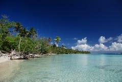南太平洋天堂海岛  免版税库存图片
