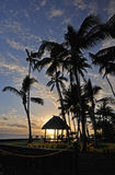 南太平洋日落 免版税图库摄影