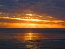 南太平洋日落 库存照片