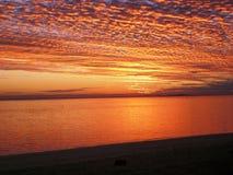 南太平洋日落 免版税库存照片