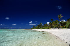 南太平洋Maupiti海岛  免版税库存图片