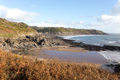 南威尔士海岸道路 库存照片