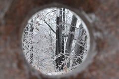 南安大略冰暴- 12月 22日2013年 免版税库存照片