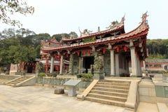 南安市镇,泉州市,瓷天竺(天空专栏)寺庙  免版税库存照片