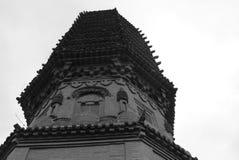 南安市从结束1000years的寺庙塔前 库存图片