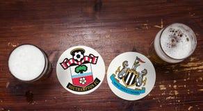 南安普敦对 纽卡斯尔联足球俱乐部 免版税图库摄影