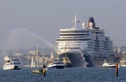 南安普敦英国游轮港  免版税图库摄影