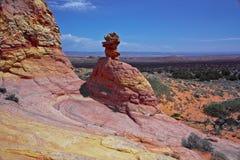 南小山五颜六色的土狼形成的砂岩 免版税库存照片