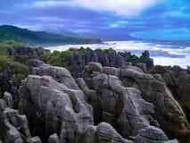 南岛,新西兰的惊人的海岸线 库存照片