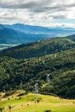 南岛,新西兰风景  免版税库存照片
