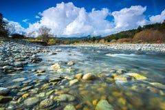 南岛,新西兰风景  免版税图库摄影