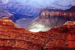 南峡谷全部的外缘 库存照片