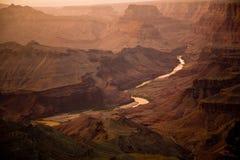 南峡谷科罗拉多全部外缘的河 库存照片