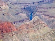 南峡谷科罗拉多全部外缘的河 库存图片