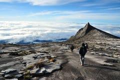 南峰顶,挂接Kinabalu 库存图片