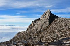 南峰顶,挂接Kinabalu 免版税库存照片