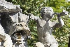 南希(法国) -喷泉在斯坦尼斯拉斯广场 免版税库存照片