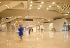南广州火车站的大厅  图库摄影