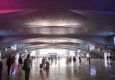 南广州火车站的大厅  免版税库存照片