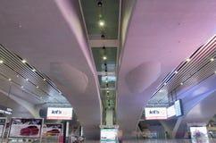 南广州火车站的大厅  免版税库存图片