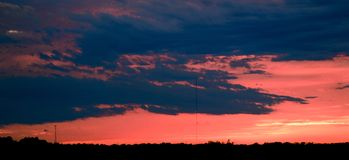 南得克萨斯天空2 库存照片