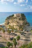 南意大利,区域卡拉布里亚,特罗佩亚市教会  免版税库存照片