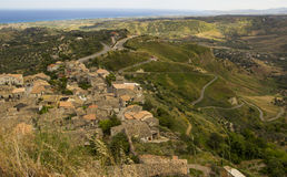 南意大利,卡拉布里亚,杰拉切的风景 图库摄影