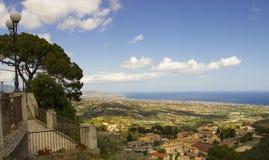 南意大利,卡拉布里亚,杰拉切的风景 库存照片